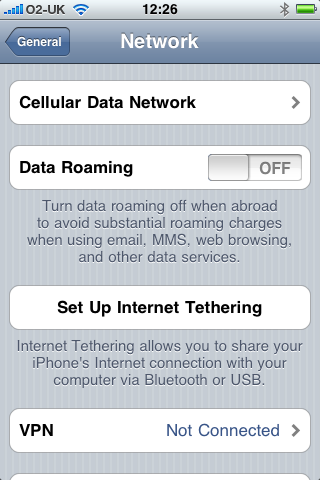 Setup Document Tethering