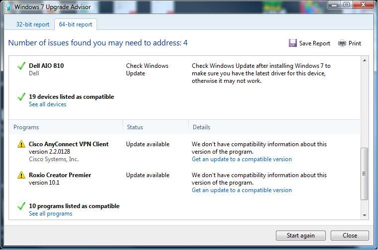 Windows 7 upgrade problem
