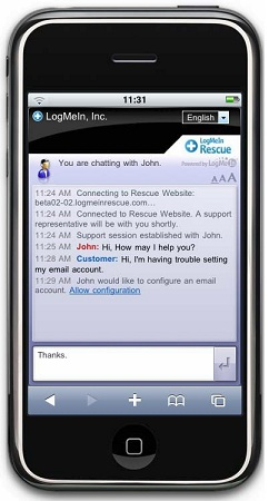 LogMeIn Rescue adds iPhone support
